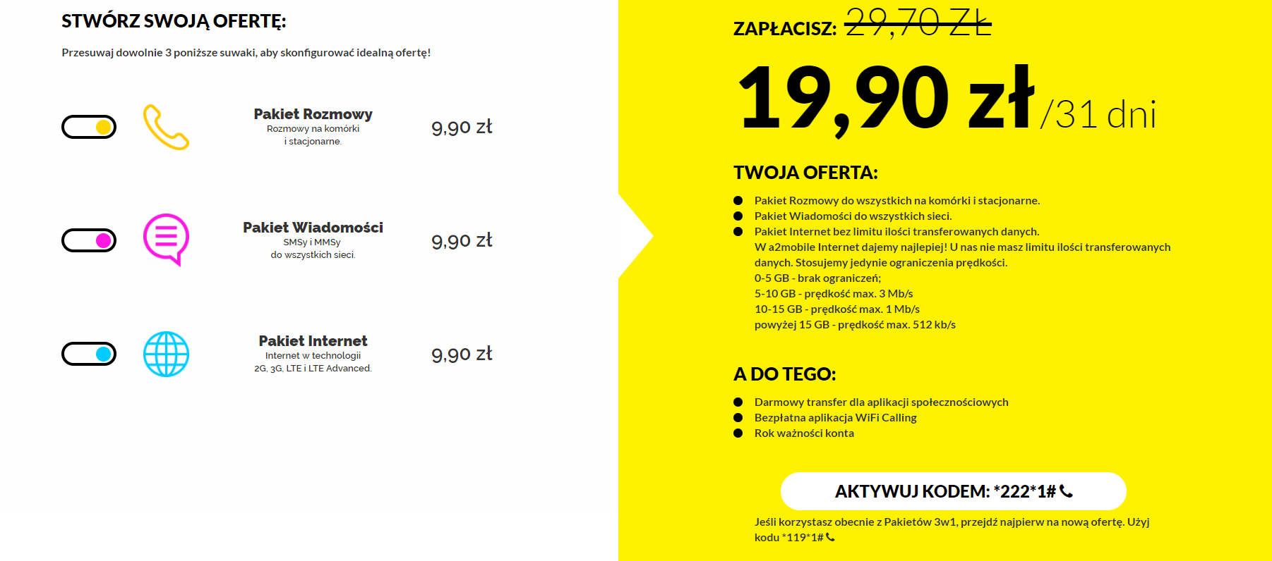 a2 mobile oferta i opinie